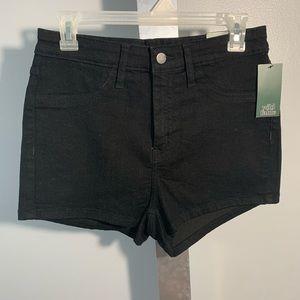 Black High Rise Jean Shorts
